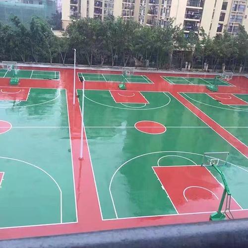 深圳龙岗南芳学校硅PU球场