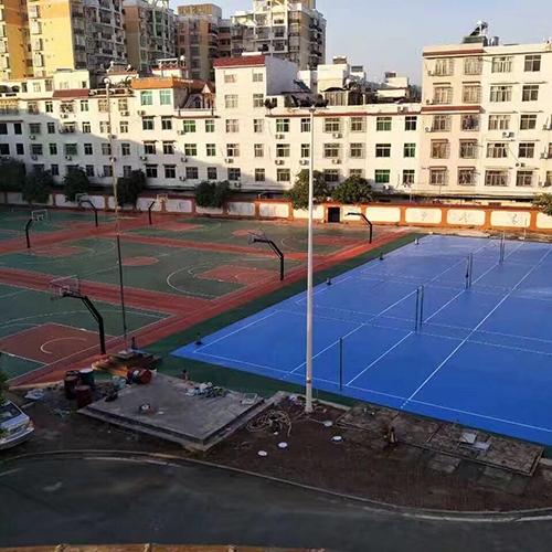广西玉林高中硅PU球场