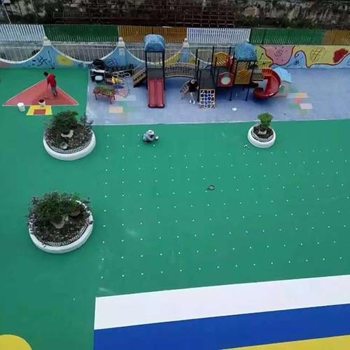 深圳龙岗幼儿园EPDM橡胶地面