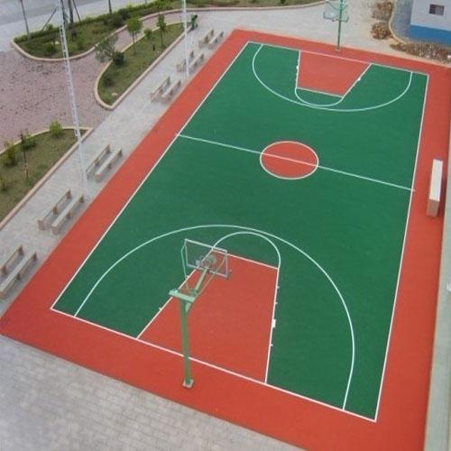 广西省百色市右江职业商贸学校PU篮球场