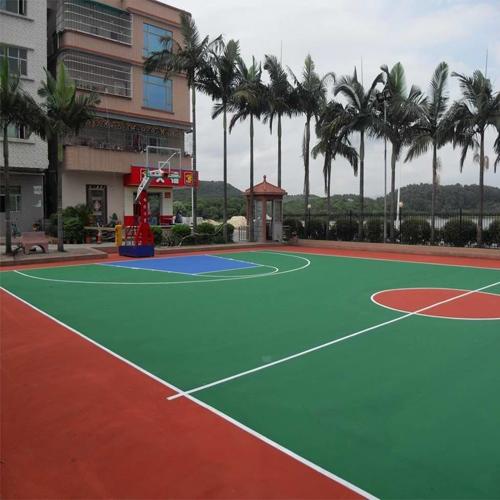 深圳市沙井华胜学校丙烯酸篮球场
