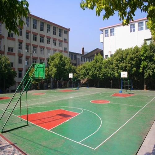 安徽淮南理工大学PU篮球场