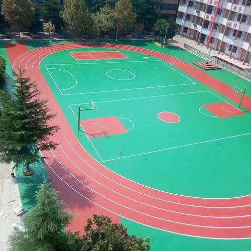 河南洛阳嵩县硅PU跑道、球场